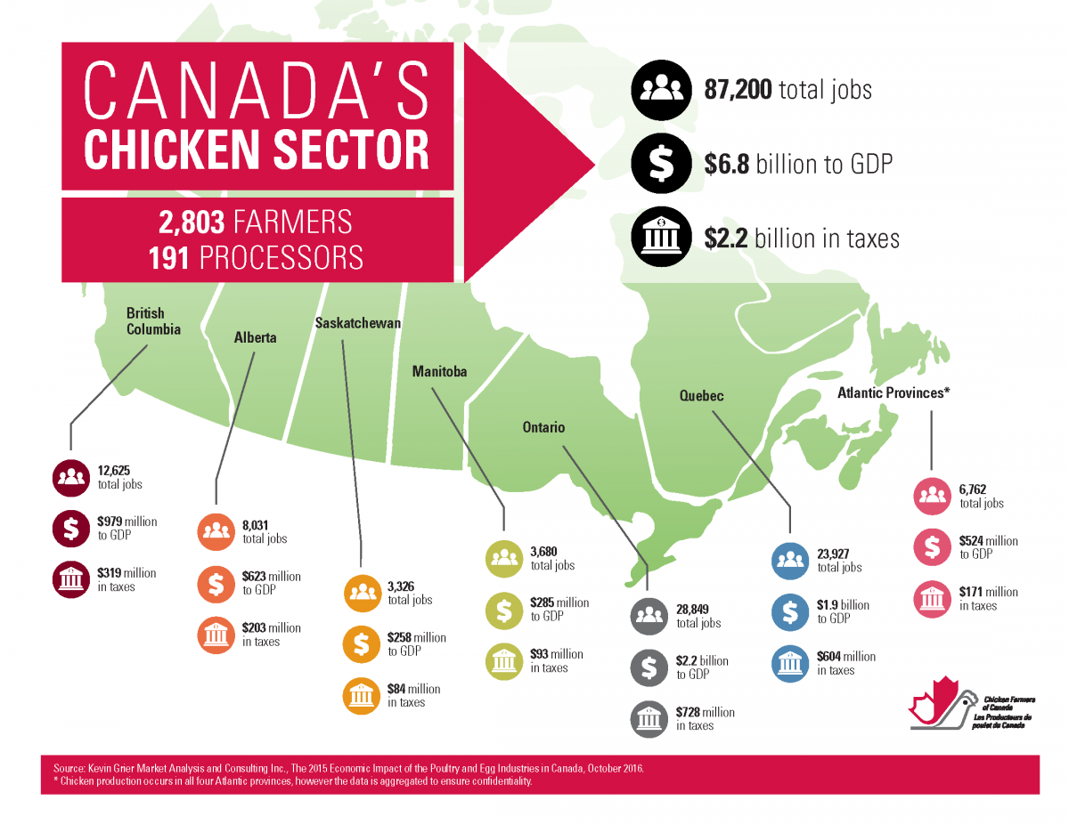 Chicken Industry Alberta Producers Recipes And Poultry Meat Cuts Manual Food Canadian Inspection Agency 2015 Economic Contribution Map Nov 2016 Final E 002 1200x927