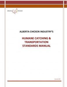 Alberta's Humane Catching & Transportation Standards Manual (December, 2019)