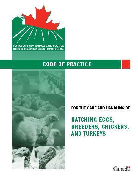 NFACC Code Of Practice Broilers